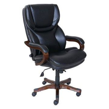 Serta Executive Office Chair, Black Bonded Leather