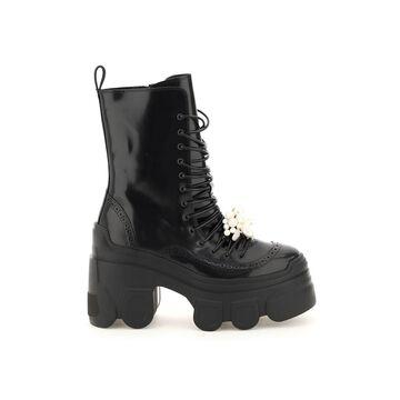 Simone Rocha Tracker Sole Lace-up Boots