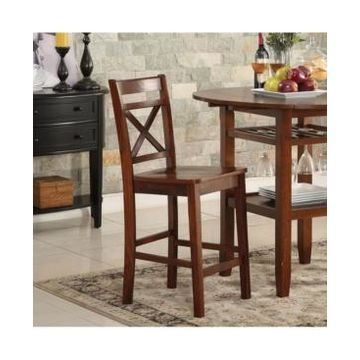 Acme Furniture Tartys Counter Height Chair, Set of 2
