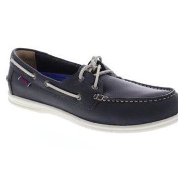 Sebago Naples Dark Gray Mens Casual Boat Shoes