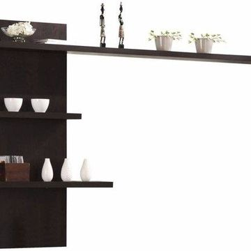 Benzara BM155361 Wall Shelf, Espresso