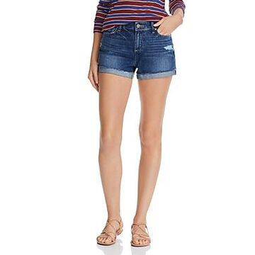 Paige Jimmy Jimmy Cuffed Denim Shorts in Lira Destructed - 100% Exclusive