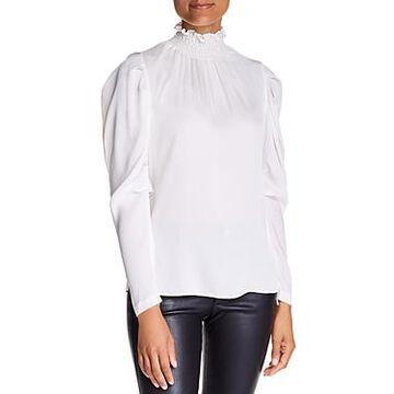 Kobi Halperin Anderson Silk-Blend Puff-Sleeve Blouse