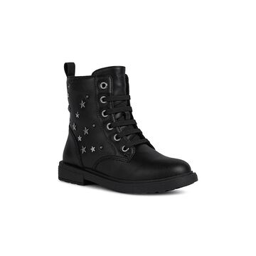 Geox Little Girl's & Girl's Eclair Faux Leather Combat Boots