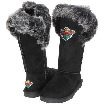 Women's Cuce Black Minnesota Wild Devoted Boots