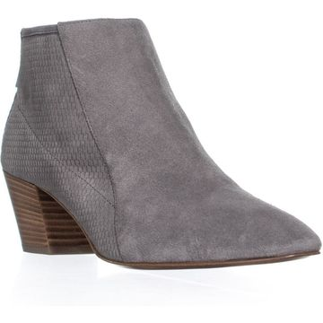 Aquatalia Farrow Block Heel Ankle Boots, Ash