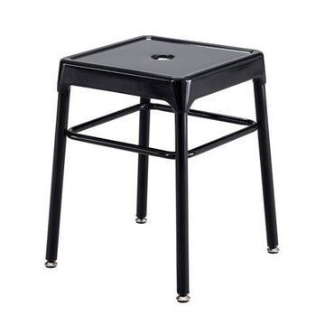 Safco Steel Guest Stool, Black