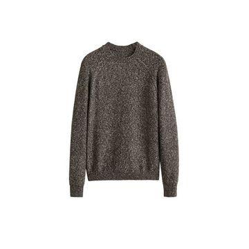 MANGO MAN Flecked cotton-blend sweater