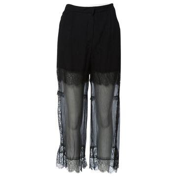 Nina Ricci Black Silk Trousers