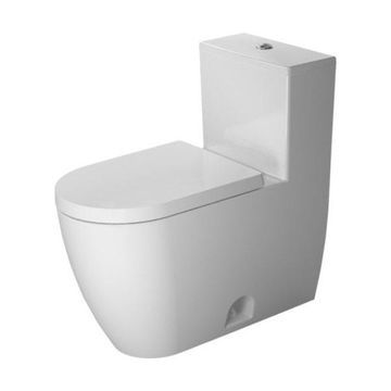 Duravit 2173010000 ME by Starck One-Piece Elongated Toilet with Dual Flush
