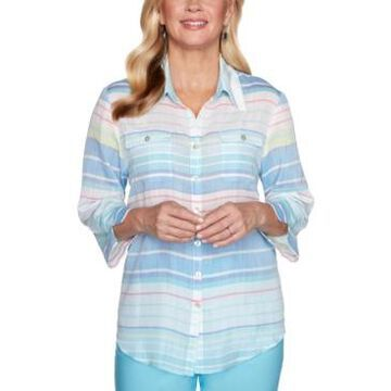 Alfred Dunner Women's Missy Sea You There Stripe Shirt