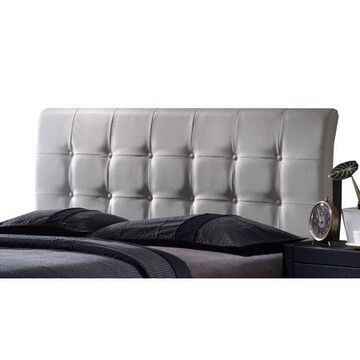 Hillsdale Furniture Lusso Faux Leather Upholstered King Headboard, White