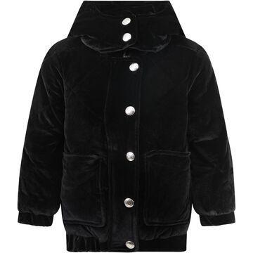Sonia Rykiel Black Jacket For Girl With Logo