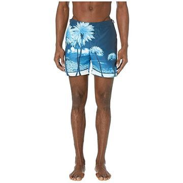 Orlebar Brown Bulldog Photographic Swim Trunk (Blue Palms) Men's Swimwear