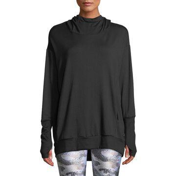 Hooded Cowl-Neck Sweatshirt