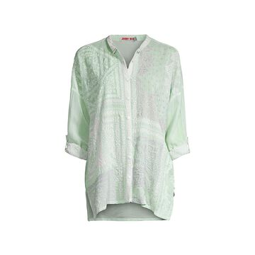 Johnny Was Bandana Embroidered Blouse