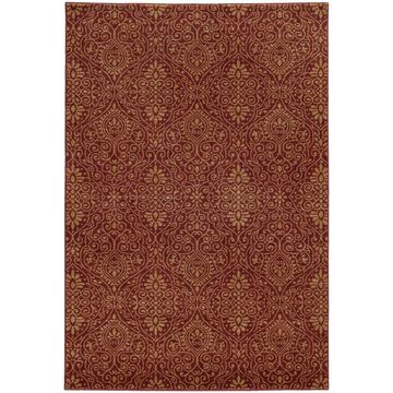 Style Haven Persian Gardens Red Indoor/Outdoor Area Rug (7'10 x 10'10) - 7'10