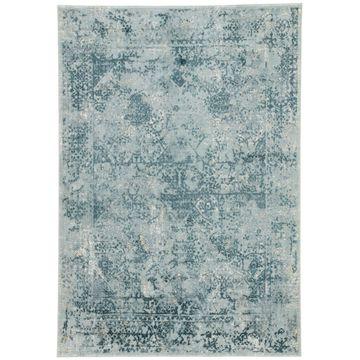 Juniper Home Olwyn Blue/ Teal Abstract Area Rug