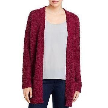 Cupio Textured Knit Open-Front Cardigan