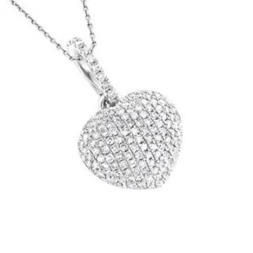Luxurman 14k Gold 1/3ct TDW Diamond Heart Pendant (White)