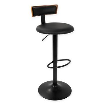 LumiSource Weller Bar Stool in Black