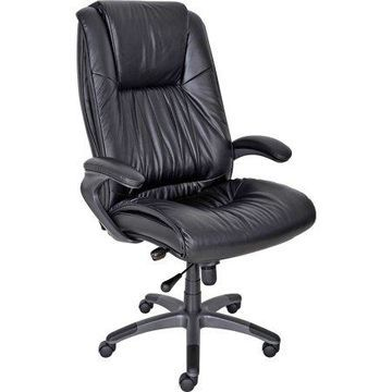 Mayline, Ultimo Leather High-Back Chair, 1 Each, Black