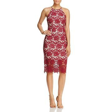 Keepsake Womens Lace Midi Cocktail Dress