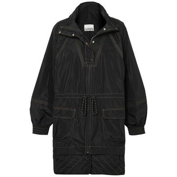 GANNI - Hooded Shell Jacket - Black