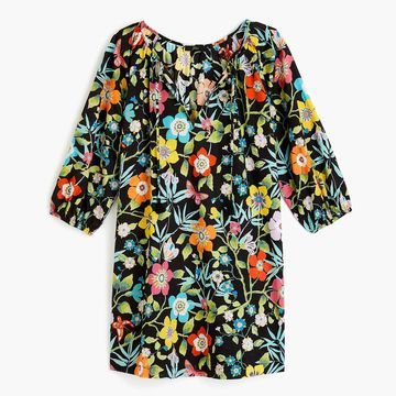 Tassel-tie beach tunic in Liberty& pavillion floral