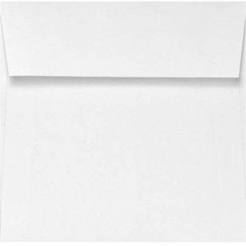 6 x 6 Square Envelopes - Natural White - 100% Cotton (500 Qty.)