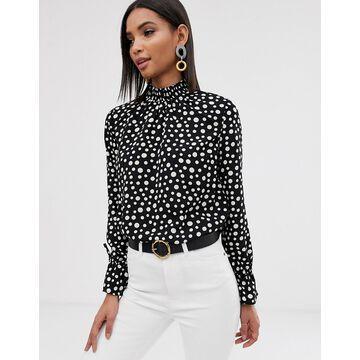 Y.A.S polka dot blouse-Black