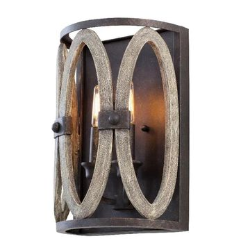 """Kalco Belmont 2-Light 12"""" Wall Sconce in Florence Gold"""