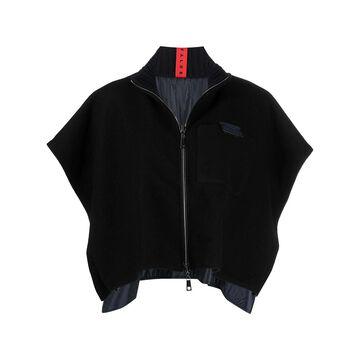 textured-finish funnel-neck jacket