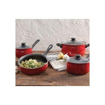 Gibson Casselman Red 7-Piece Non-Stick Cookware Set -