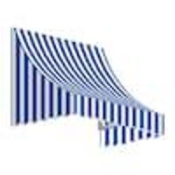 Awntech Nantucket 52.5-in Wide x 36-in Projection Striped Crescent Window/Door Fixed Awning