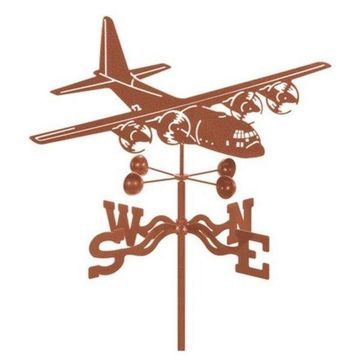 EZ Vane C-130 Airplane Weathervane With Deck Mount