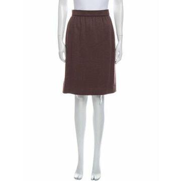 Vintage Knee-Length Skirt Brown
