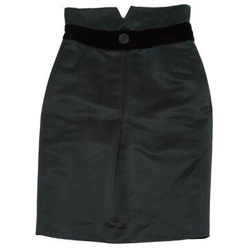 Emporio Armani Black Polyester Skirts