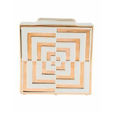 Futura Op Art Square Vase gold