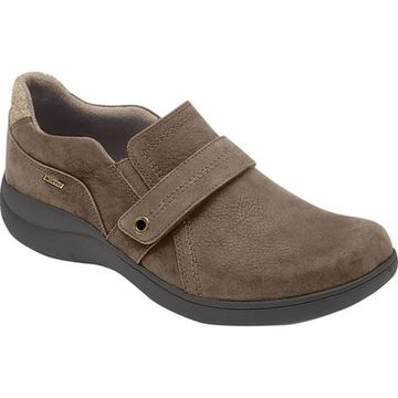 Aravon Women's RS Waterproof Slip-On Brown Nubuck