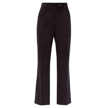 Acne Studios - Patsyne Cropped Cotton-corduroy Trousers - Womens - Navy