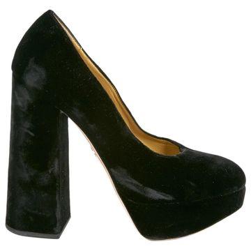 Charlotte Olympia Black Velvet Heels