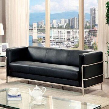 Benzara BM123277 Leifur Contemporary Sofa, Black