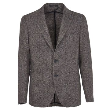 Tagliatore Herringbone Wool Jacket