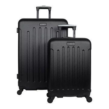 Heritage Lincoln Park 2-Piece Hardside 4-Wheel Spinner Luggage Set, Black