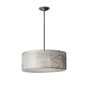 Feiss Wired Pendant Light in Brushed Steel