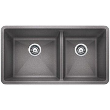 Blanco DIAMOND Equal Double Dual Deck SILGRANIT Sink White