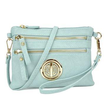 Dasein Fashion All-In-One Soft Faux Leather Crossbody Handbag