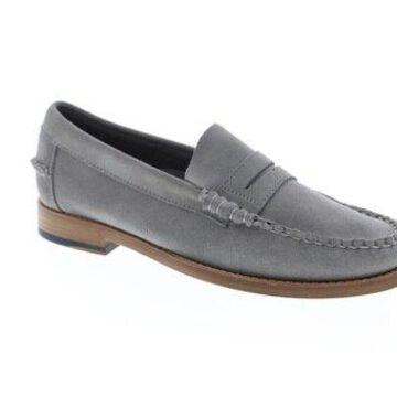 Sebago Legacy Penny Grey Suede Mens Casual Loafers & Slip Ons