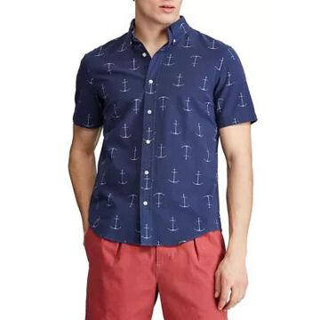 Chaps Men's Go Untucked Short Sleeve Button Down Shirt - -